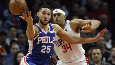 The 76ers' Ben Simmons is trailing in All-Star voting.