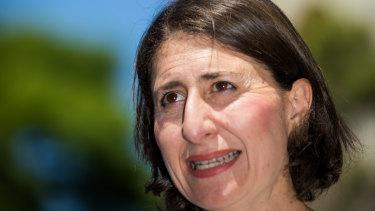 NSW Premier Gladys Berejiklian .