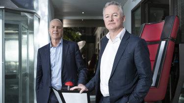 Fairfax Media chief executive Greg Hywood and Nine boss Hugh Marks announced plans for a merger on Thursday.