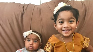 Nine-month old Dharuniga and 2-year-old Kopiga were born in Australia.