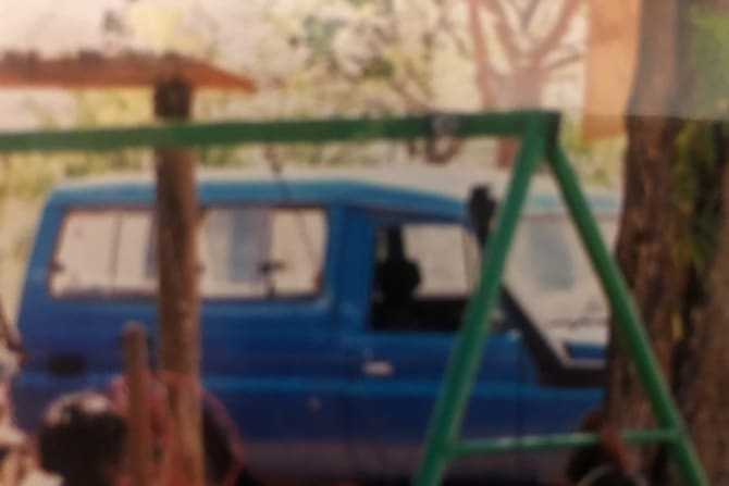 The Toyota 4WD seen by Zaria. It was registered at the time to current Kimberley Land Council chairman Anthony Watson.