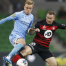 Melbourne City lucky to take a point against Wanderers