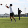Valentine's day: Holmes works out for NFL scouts in Florida