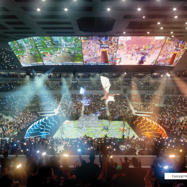 Concept designs for the proposed 17,000-seat Brisbane Live arena at Roma Street. Artists impressions supplied by the Queensland government on December 16, 2019.