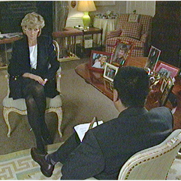 Princess Diana during the interview with BBC reporter Martin Bashir, which was broadcast on November 20, 1995.