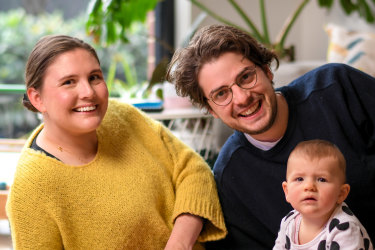 Amber and Nick Weller, with eight-month-old Nina, have seen positive changes during COVID-19.