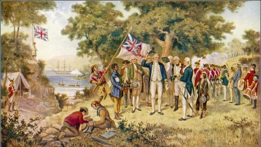 Captain James Cook takes possession of the east coast of Australia on behalf of the British Crown.