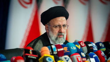 Ebrahim Raisi, Iran's president, holds his first news conference after winning the election.