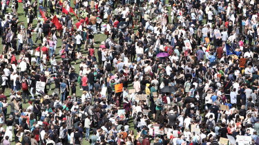 The Global Strike protest about the lack of action on climate change in Sydney last week.
