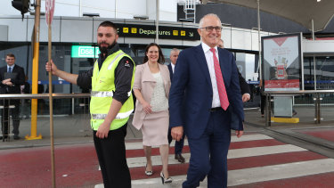 Prime Minister Malcolm Turnbull announced funding for an airport rail link last month .