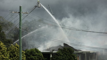 Firefighters raced to get the club fire under control.