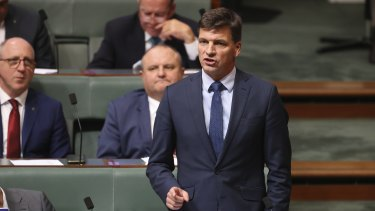 Energy and Emissions Reduction Minister Angus Taylor.