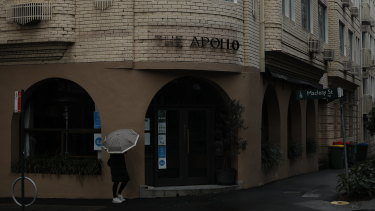 The Apollo restaurant which has been closed due to a coronavirus outbreak in Potts Point.
