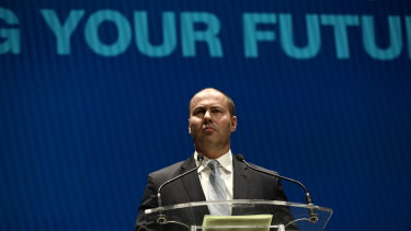 Treasurer Josh Frydenberg at the campaign launch.