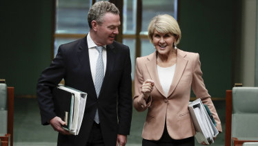 Christopher Pyne and Julie Bishop have taken controversial positions since leaving Parliament.
