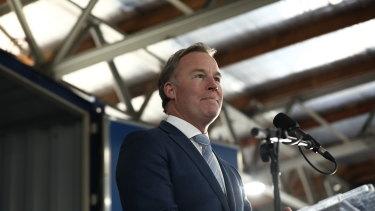 Tasmanian Premier Will Hodgman at Prime Minister Scott Morrison's rally.