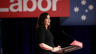 Premier of Queensland Annastacia Palaszczuk at the Labor Party campaign launch.
