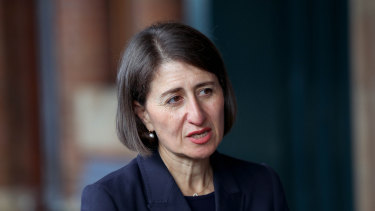 Premier Gladys Berejiklian will renew her government's commitment to faster rail.