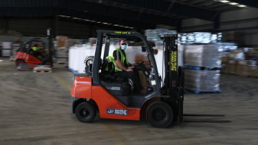 The Glen Cameron Group moves around 40,000 pallets of goods each day.