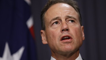 Greg Hunt says the government may have to ask some doctors to come out of retirement to help with the coronavirus.