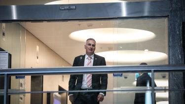 NSW MP John Sidoti leaving the NSW corruption watchdog hearings in Sydney in April.