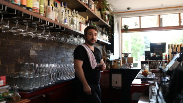 Daniel Startup is co-owner of Hive Bar in Erskineville, Sydney on May 30, 2020.