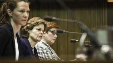 "DFAT secretary Frances Adamson, centre, says Australia will need to ""work quite hard"" at its relationship with China."