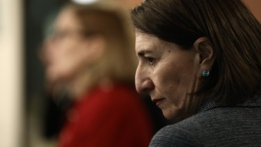 Premier Gladys Berejiklian and NSW Chief Health Officer Dr Kerry Chant on Wednesday.