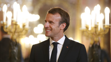 Emmanuel Macron at the Royal Palace in Madrid in July.