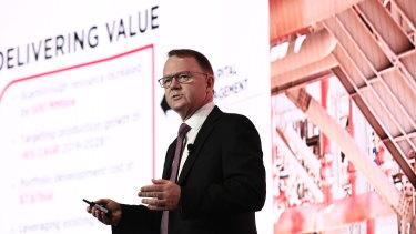 Woodside CEO Peter Coleman at the investor briefing last week.