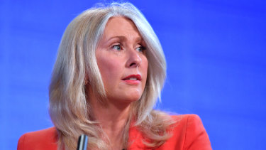 Former journalist Tracey Spicer at the National Press Club last month.