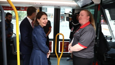 "NSW Premier Gladys Berejiklian described her journey on Sydney's new light rail on Saturday as ""better than expected""."
