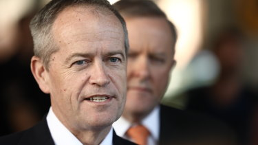 Labor leader Bill Shorten rouses the party faithful at its official campaign launch in Brisbane.