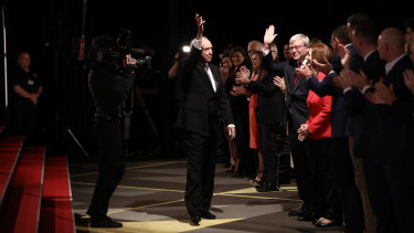 Former prime minister Paul Keating arrives at the Labor campaign launch in Brisbane earlier this month.