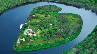 Makepeace Island, Richard Branson's private island in the Noosa River.