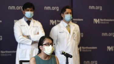 Mayra Ramirez, the first known patient in the US to receive a double-lung transplant, says she didn't recognise her body after surgery.