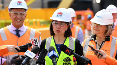 Looking after the big end of town: NSW Premier Gladys Berejiklian's own number crunchers won't back her projections.