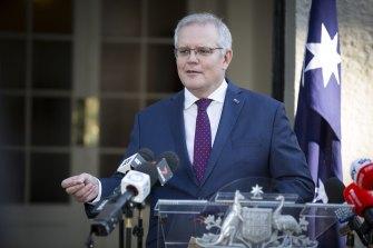 Prime Minister Scott Morrison on Thursday.