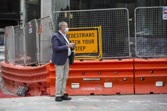 Closed for business: Construction sites across Sydney were shut on Monday.