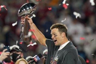 Tom Brady celebrates Super Bowl win No.7.