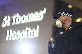 St Thomas' Hospital in central London, where British Prime Minister Boris Johnson was moved to intensive care after his coronavirus symptoms worsened.