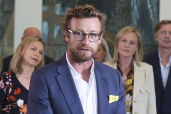 """Australian actor Simon Baker, addressing a press conference in Parliament House in Canberra, said a local content quota on streaming services such as Netflix would ensure the long-term sustainability of the local film industry once the """"sugar hit"""" of interest from Hollywood studios evaporated."""