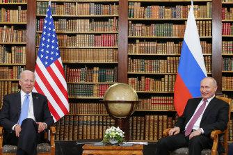 US President Joe Biden meets with Russia's Vladimir Putin in Geneva.