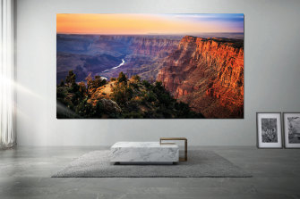 Samsung's 'The Wall' is a modular microLED display that can get as big as your budget will allow.