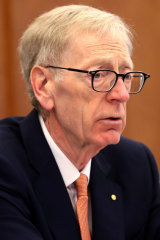 Commissioner Kenneth Hayne presiding over the royal commission into banking and financial services.