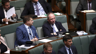 Barnaby Joyce in Question Time today.