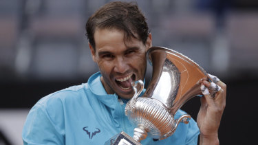 Hunger: Rafael Nadal proved far too good for Novak Djokovic in the Italian Open final.