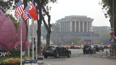 The Ho Chi Minh Mausoleum in Hanoi.
