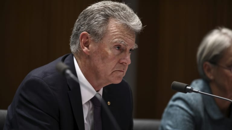 ASIO director general Ducan Lewis at the Senate estimates hearing on Thursday night.