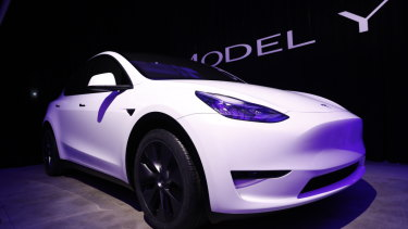 Tesla shares are down 22 per cent on the year.